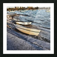 Boats At The Bay Picture Frame print