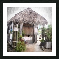 Hut Picture Frame print