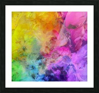 Bright Colorful Abstract Painting Picture Frame print
