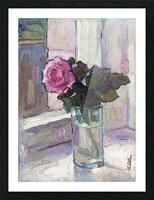 Rose in the Glass Picture Frame print