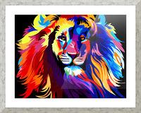 Lion Rainbow Picture Frame print