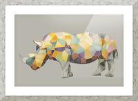 Rhino Mosaic Picture Frame print