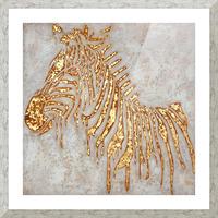 Gold Zebra Picture Frame print
