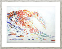 The Wave Picture Frame print