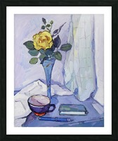 Still Life with Yellow Rose Picture Frame print