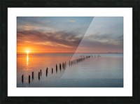 Sunset Pier Picture Frame print