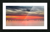 Striking Sunset at Clifton Springs Picture Frame print