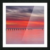 Pink Sunset over Water Picture Frame print