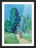 On the Path Picture Frame print