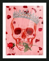 Charming Skull Picture Frame print