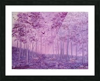 Purple Woods Picture Frame print