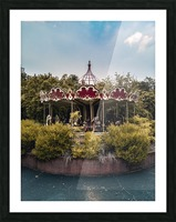 Abandoned Theme Park Merry Go Round Picture Frame print