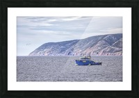The Atlantic Gale with text Picture Frame print