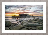 The Big Rock Picture Frame print