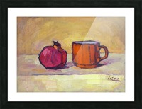 Pomegranate and Red Cup Picture Frame print