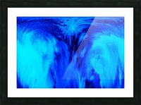 Abstract blue Picture Frame print