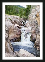 Colorado Waterfall  -  Poudre River  Picture Frame print