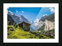 Hut in the valley Picture Frame print