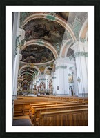 Church Pews Picture Frame print