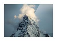Matterhorn Glow Blue Picture Frame print
