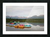 Alaska Lake and Sporting Impression et Cadre photo