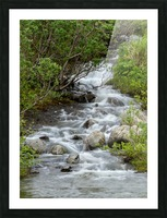 Beautiful Waterfall Picture in Alaska Picture Frame print