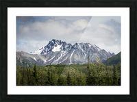 Alaska Mountain Range Picture Frame print