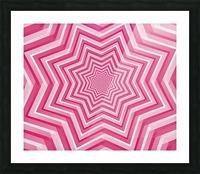 Pink Geometric Design Art Picture Frame print