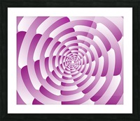 Abstract Pink Spiral Art  Picture Frame print