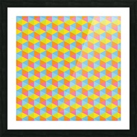 Hexagon Seamless Pattern Artwork Picture Frame print