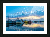 Ready for Crabbing Picture Frame print