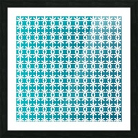 Floral Gradient Seamless Pattern Artwork Picture Frame print