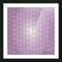 Ornamental Pink Artwork Picture Frame print