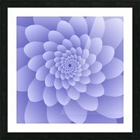 3D Modern Purple  Floral Art Picture Frame print