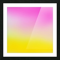 pink to yellow Gradient Background Picture Frame print