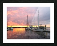Sunset Sailboat 2 Picture Frame print