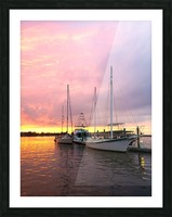 Sunset Sailboat Picture Frame print
