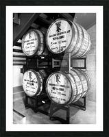 Whisky Barrels Picture Frame print