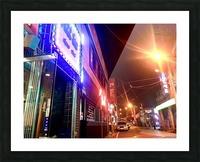 Korean Street at Night Picture Frame print