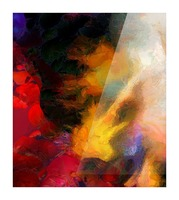 Colorful oil on canvas Picture Frame print