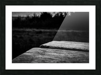 Wooden Bench At The Sea Picture Frame print