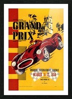 Us Grand Prix Sports Riverside International Raceway 1958 Picture Frame print