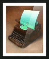 typewriter Picture Frame print