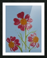 Red Flower 2 Picture Frame print