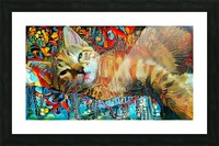 Lying Cat Picture Frame print