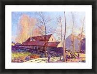 The Mills of Moret, Frost, Evening Effect Picture Frame print