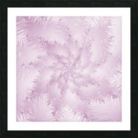 Pink Snowflakes Forest Picture Frame print