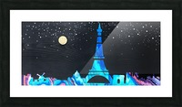I love Paris on Wood 2 Picture Frame print