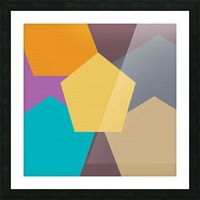COLORFUL HEXAGON Pattern Picture Frame print