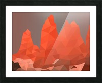 Torres del Paine National Park Low Poly Art  Picture Frame print